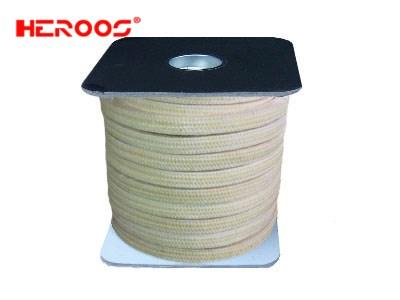 Aramid fiber packing impregnated with PTFE